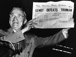 Perhaps one of the most well-known journalistic mistakes, shown above, was the headline the Daily Chicago Tribune printed, which named the incorrect winner of the presidential election.